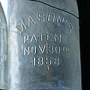 1858 Masons Jar Poster