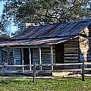 1860 Log Cabins Poster by Linda Phelps