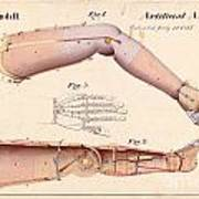 1865 Artificial Limbs Patent Drawing Poster