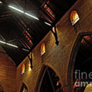 1865 - St. Jude's Church  - Interior 2 Poster by Kaye Menner