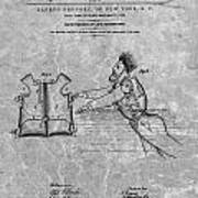 1869 Life Preserver Patent Charcoal Poster