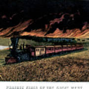 1870s Prairie Fires Of The Great West - Poster