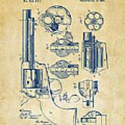 1875 Colt Peacemaker Revolver Patent Vintage Poster
