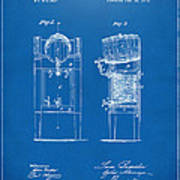 1876 Beer Keg Cooler Patent Artwork Blueprint Poster
