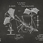 1879 Quinby Aerial Ship Patent - Gray Poster by Nikki Marie Smith