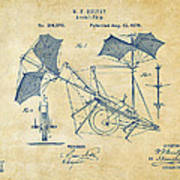 1879 Quinby Aerial Ship Patent - Vintage Poster by Nikki Marie Smith