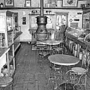 1880 Drug Store Black And White Poster