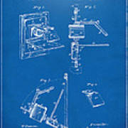 1881 Taylor Camera Obscura Patent Blueprint Poster