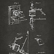 1881 Taylor Camera Obscura Patent Gray Poster