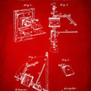 1881 Taylor Camera Obscura Patent Red Poster