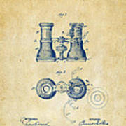 1882 Opera Glass Patent Artwork - Vintage Poster