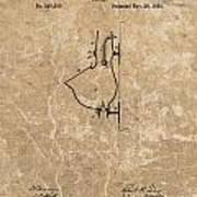 1882 Urinal Patent Poster