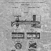 1885 Beer Tap Patent Charcoal Poster