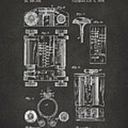 1889 First Computer Patent Gray Poster