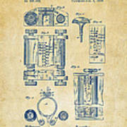 1889 First Computer Patent Vintage Poster
