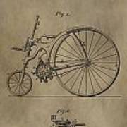 1890 Bicycle Patent Poster