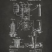 1890 Bottling Machine Patent Artwork Gray Poster