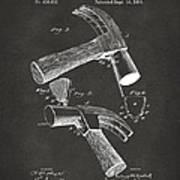 1890 Hammer Patent Artwork - Gray Poster