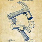 1890 Hammer Patent Artwork - Vintage Poster