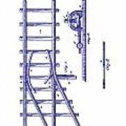 1890 Railway Switch Patent Blueprint Poster