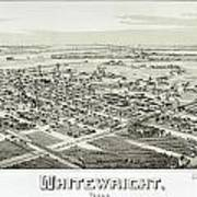 1891 Vintage Map Of Whitewright Texas Poster