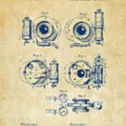 1892 Barker Camera Shutter Patent Vintage Poster