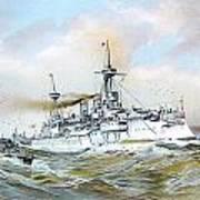 1895 - The Brandenburg Squadron At Sea - Color Poster