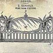 1895 Wine Room Fixture Design Patent Poster