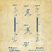 1896 Dental Excavator Patent Vintage Poster