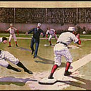 1898 Baseball -  American Pastime  Poster by Daniel Hagerman