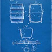 1898 Beer Keg Patent Artwork - Blueprint Poster