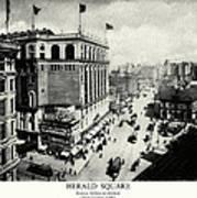 1898 Herald Square New York City Poster