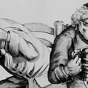 18th Century Engraving Of Alcoholics Poster