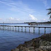 Melbourne Beach Pier In Florida Poster