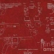 1900 Landstad Automatic Revolver Patent Poster