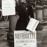 1900s British Suffragette Woman Poster