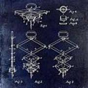 1902 Corkscrew Patent Blue  Poster