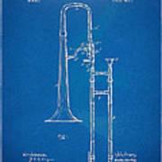1902 Slide Trombone Patent Blueprint Poster