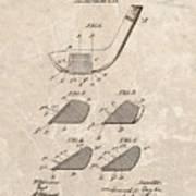 1903 Golf Club Patent Poster