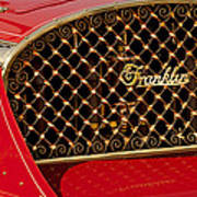 1904 Franklin Open Four Seater Grille Emblem Poster