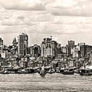 1906 Manhattan Panorama Poster