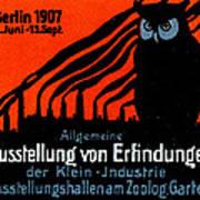 1907 Berlin Exposition Poster Poster