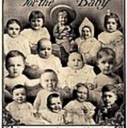 1907 - Mellins Baby Food Advertisement Poster