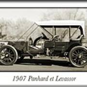 1907 Panhard Et Levassor Poster by Jill Reger