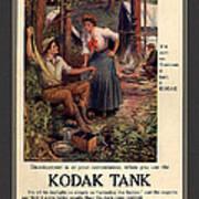 1907 Vintage Kodak Tank Advertising Poster