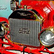 1909 Ford Digital Art Poster