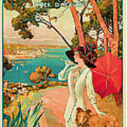 1910 Antibes Vintage Travel Art  Poster