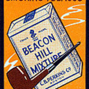 1910 Beacon Hill Pipe Tobacco Poster