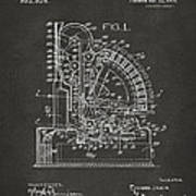 1910 Cash Register Patent Gray Poster