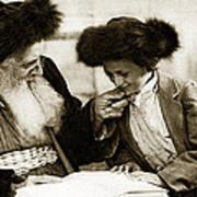 1910 Studying The Torah Poster